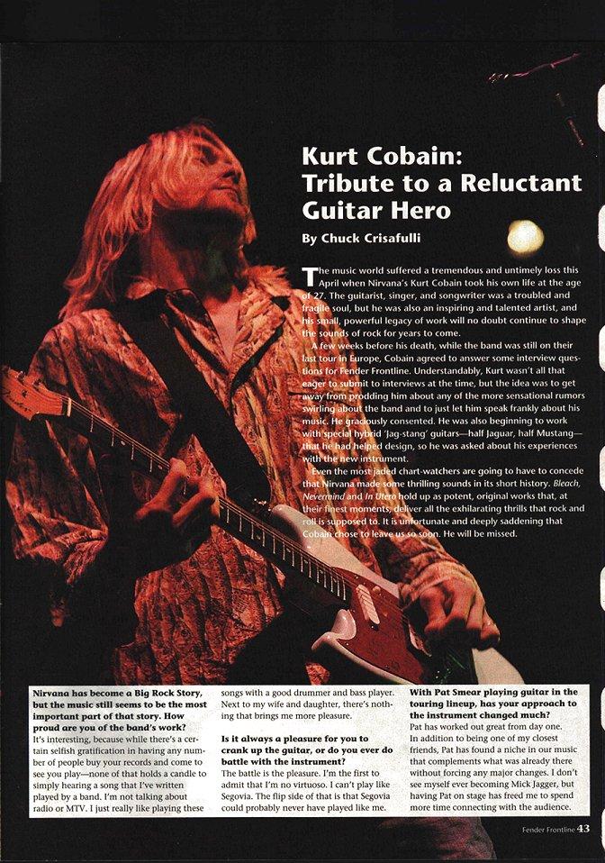 Одно из последних интервью Курта Кобейна