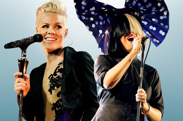 Pink & Sia на премьере Waterfall