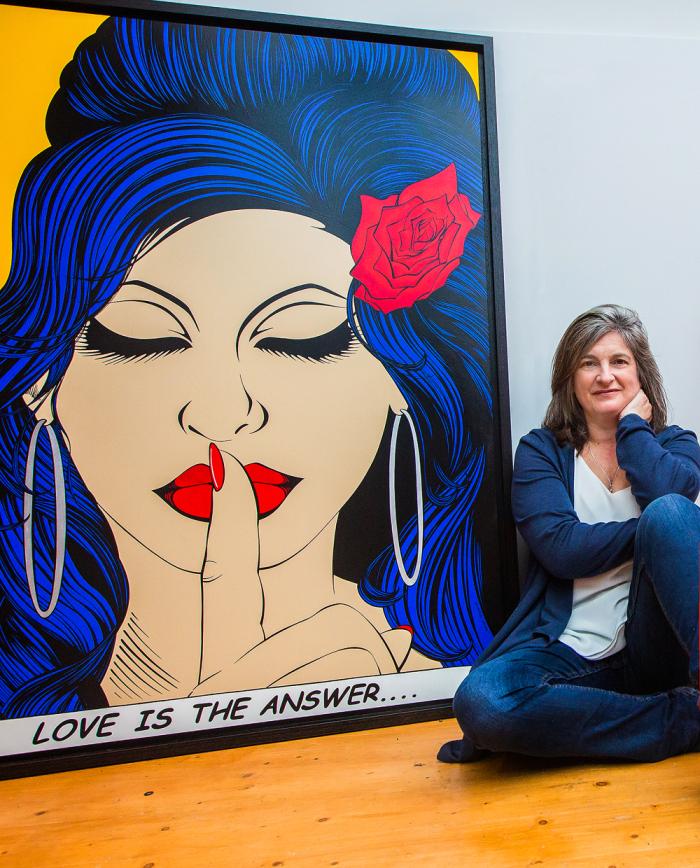 Портрет Эми Уайнхаус нарисован с ее матери