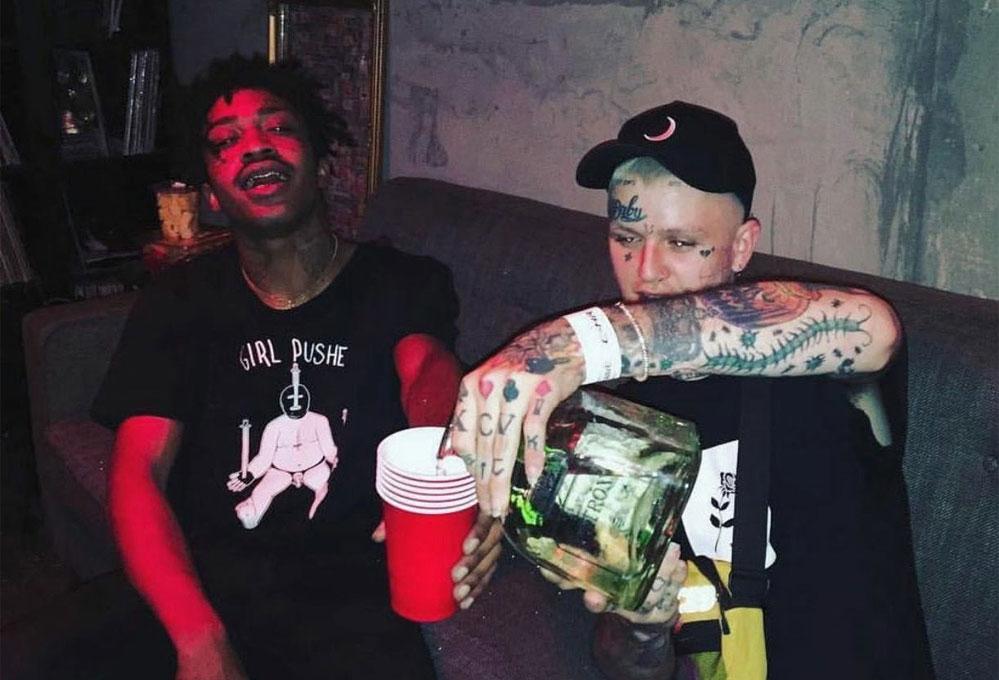 Lil Peep & Lil Tracy: pain ft Slug † Christ - перевод